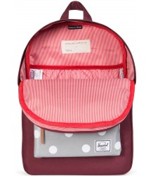 Herschel Heritage Youth Herschel Heritage Youth windsor wine   grey 3m polka dot
