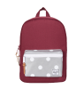 Herschel Settlement Kid  Herschel Settlement Kid windsor wine  and grey 3m with polka dot