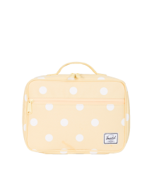 Herschel Pop Quiz Lunchbox Herschel Pop Quiz Lunchbox popcorn yellow and white polka dot