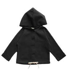 Gray Label Baby Hooded Cardigan Gray Label Baby Hooded Cardigan nearly black