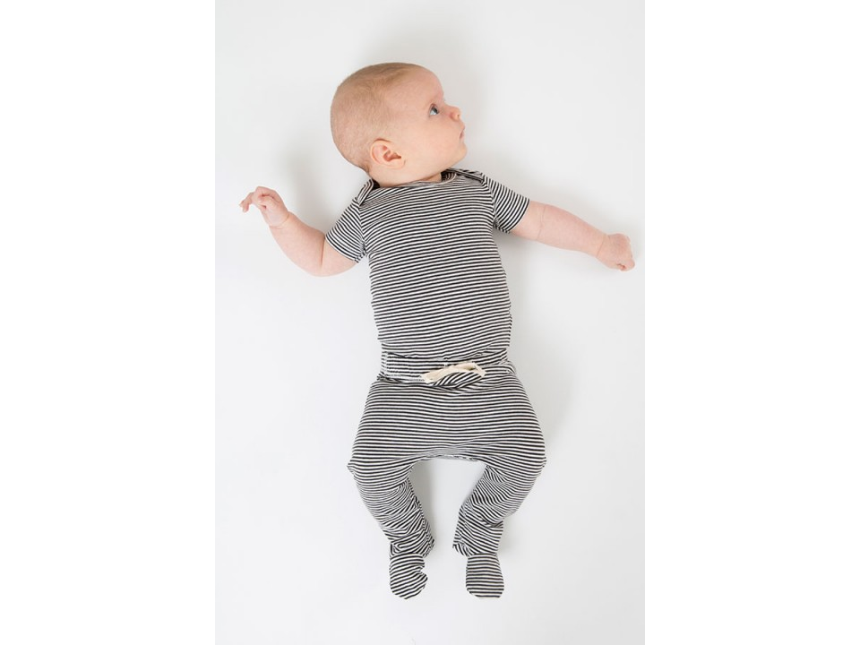 Gray Label Baby Onesie Striped Orange Mayonnaise