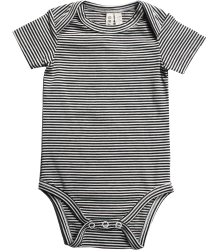 Gray Label Baby Onesie Striped Gray Label Baby Onesie Striped black off-white