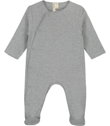 Gray Label Newborn Suit with Snaps Gray Label Newborn Suit with Snaps grey melange