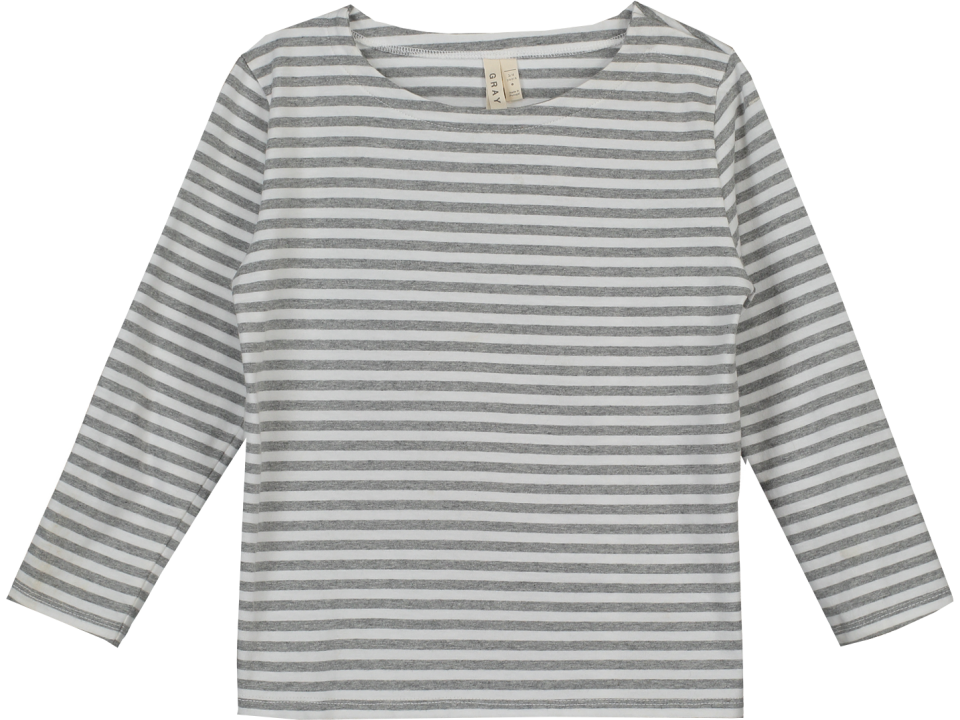 Gray label long sleeve striped t shirt orange mayonnaise for Grey striped t shirt