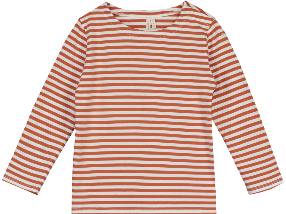 Gray Label Long Sleeve Striped T Shirt Orange Mayonnaise