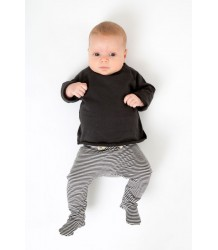 Gray Label Baby Footies STRIPED Gray Label Baby Footies black off-white