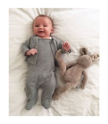 Gray Label Newborn Sleeveless Suit with Cardigan Gray Label Newborn Suit with Snaps grey melange