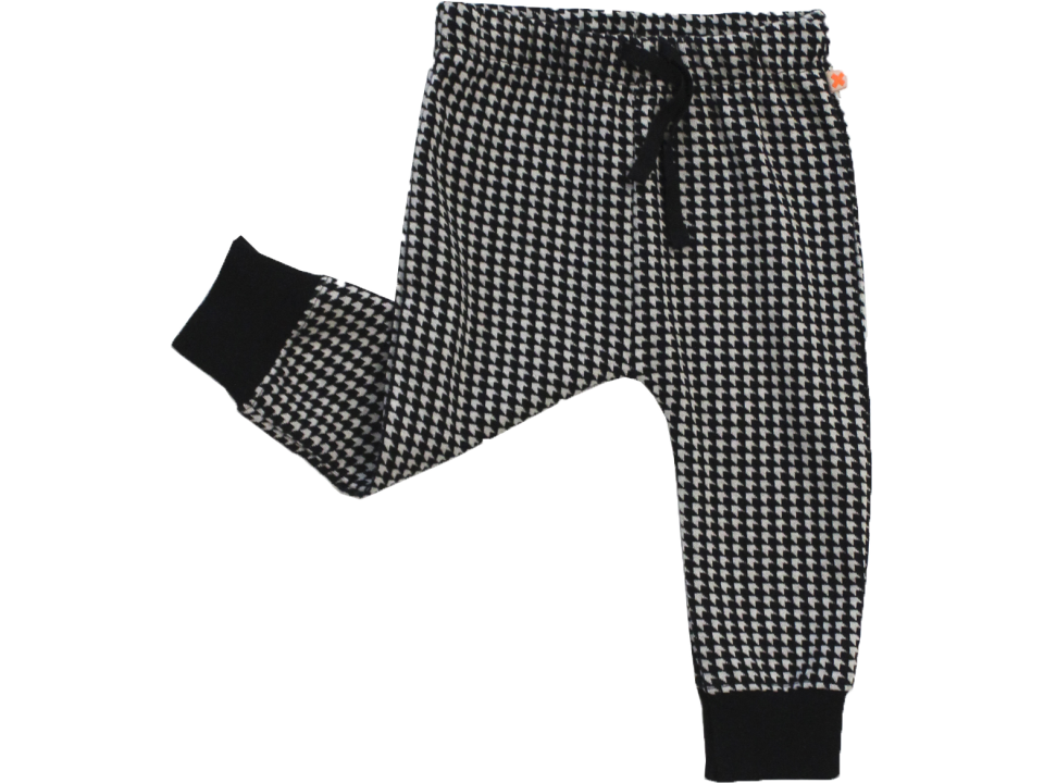 Tiny Cottons Easy Pant HOUNDSTOOTH - Orange Mayonnaise