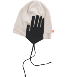 Tiny Cottons Chapka Knit WARM EARS Tiny Cottons Chapka Knit WARM EARS , off-white and black
