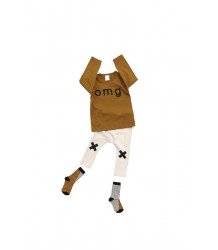 Tiny Cottons Graphic Tee Long Sleeve OMG Tiny Cottons Graphic Tee Long Sleeve OMG caramel brown
