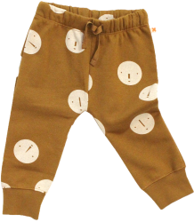 Tiny Cottons Fleece Sweat Pant FACES Tiny Cottons Fleece Sweat Pant FACES caramel bruin