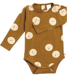 Tiny Cottons Long Sleeve Body FACES Tiny Cottons Long Sleeve Body FACES caramel brown