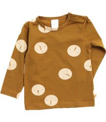 Tiny Cottons Tee Long Sleeve FACES Tiny Cottons Tee Long Sleeve FACES caramel bruin