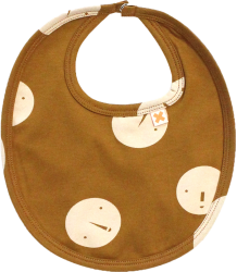Tiny Cottons Bib FACES Tiny Cottons Bib FACES caramel brown