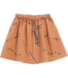 Tiny Cottons Woven Skirt MANY WORDS Tiny Cottons Woven Skirt MANY WORDS dark salmon