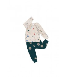 Tiny Cottons Fleece Sweat Pant FACES Tiny Cottons Fleece Sweat Pant FACES navy
