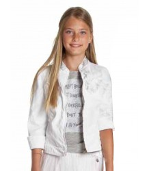 Patrizia Pepe Girls Jacket with Strass Collar Patrizia Pepe Girls Jacket with Strass Collar