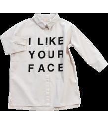 Tiny Cottons Shirt Dress I LIKE YOUR FACE Tiny Cottons Blouse Jurk I LIKE YOUR FACE
