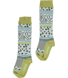 Kidscase Winter Organic Knee High Kidscase Organic Knee High 0ff-white green