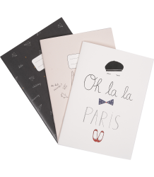 Emile et Ida Notebook - Set of 3 Emile et Ida Notebook Girl - Set of 3