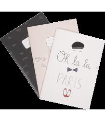 Emile et Ida Notebook - Set of 3 Emile et Ida Notebook Girl - Set of 3