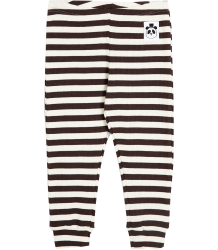Mini Rodini Stripe Rib Leggings Mini Rodini Striped Rib Leggings brown