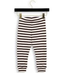 Mini Rodini Stripe Rib Leggings Mini Rodini Striped Rib Leggings brown
