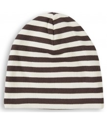 Mini Rodini Striped Rib Beanie Mini Rodini Striped Rib Beanie brown