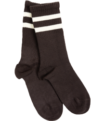 Mini Rodini Stripe Sock  Mini Rodini Stripe Sock  brown