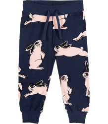 Mini Rodini Sweatpants RABBIT Mini Rodini Sweatpants RABBIT dark blue