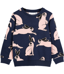 Mini Rodini Sweatshirt RABBIT Mini Rodini Sweatshirt RABBIT dark blue