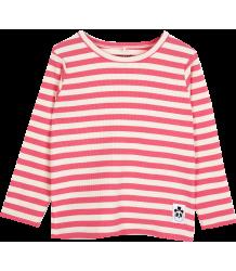 Mini Rodini Stripe Rib LS Tee Mini Rodini Stripe Rib LS Tee pink