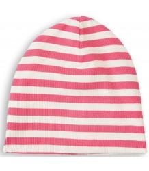Mini Rodini Striped Rib Beanie Mini Rodini Striped Rib Beanie pink