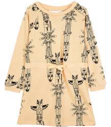 Mini Rodini LS Sweat Dress TOTEM Mini Rodini LS Sweat Dress TOTEM apricot