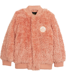 Mini Rodini Pile Baseball Jacket Mini Rodini Pile Baseball Jacket pink