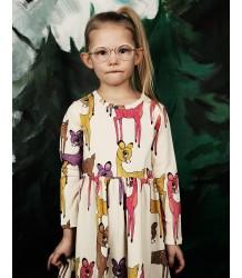 Mini Rodini ROE DEER LS Dress Mini Rodini LS Dress Deer