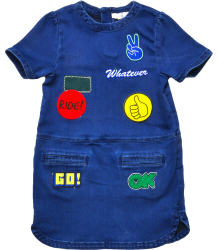 Stella McCartney Kids Maude Dress BADGES Stella McCartney Kids Maude Dress BADGES