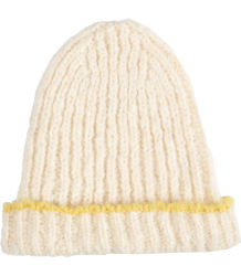 The Animals Observatory Squirrel Cap The Animals Observatory Squirrel Cap wool white and yellow