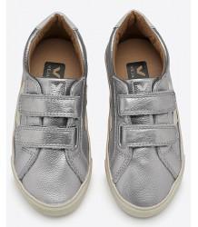 VEJA Esplar Small Velcro Leather SILVER Veja Esplar Small SILVER