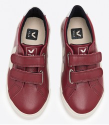 Esplar Small Velcro Leather MARSALA Veja Esplar Small Velcro Leather MARSALA