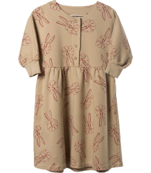 Bobo Choses Fleece Dress BUNNIES AOP Bobo Choses Sweat Jurk KONIJNTJES AOP