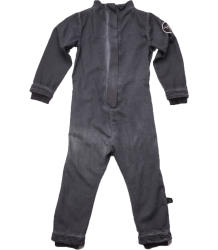 Nununu Cotton Aviator Overall Nununu Aviator Overall dyed black