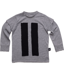 Nununu STRIPED PATCH T-shirt Nununu STRIPED PATCH T-shirt grey heather