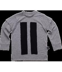 Nununu STRIPED PATCH T-shirt Nununu STRIPED PATCH T-shirt grey heather