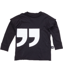 Nununu QUOTATION T-shirt LS Nununu QUOTATION T-shirt LS black