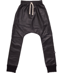 Nununu LEATHER Baggy Pants Nununu LEATHER Baggy Pants black