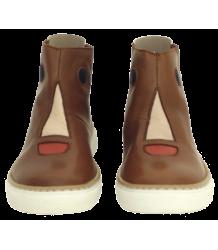 Tiny Cottons Face Boots Tiny Cottons Face Boots camel brown