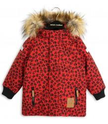 Mini Rodini Siberia LEOPARD Jacket Mini Rodini Siberia LEOPARD Jacket red
