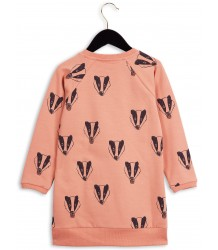 Mini Rodini LS Sweat Dress BADGER Mini Rodini LS Sweat Dress BADGER pink