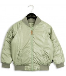 Mini Rodini Reversible Bomber Jacket Mini Rodini Reversible Insulator Jacket green